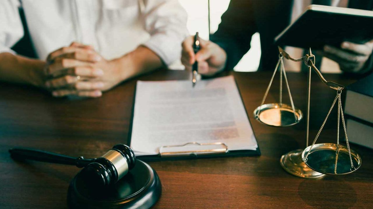 Maryland divorce attorney and his client in the discovery phase of litigation