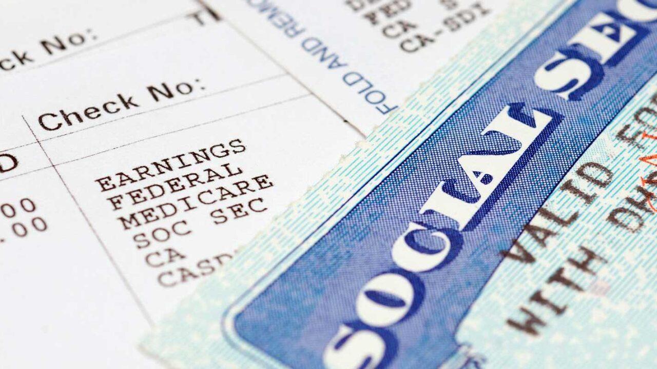 Close up of a social security card