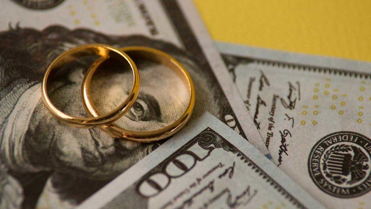 Wedding bands on top of alimony money