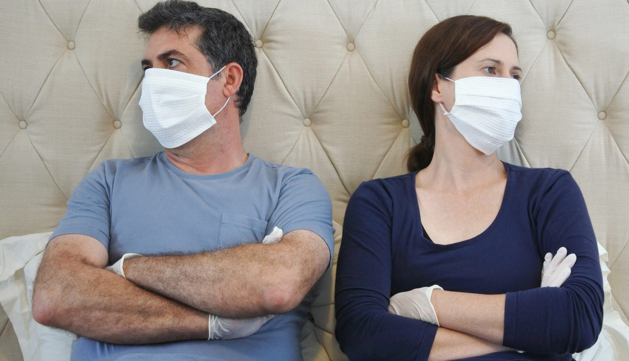 Divorced couple forced to stay at home during the pandemic