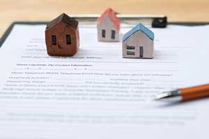 Property documents ready for a divorce