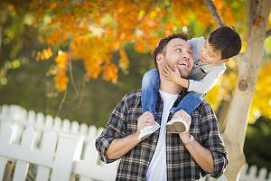 Father receiving child support with child