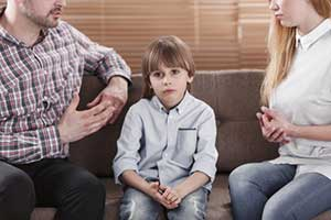 Child in the middle of a Maryland divorce mediation