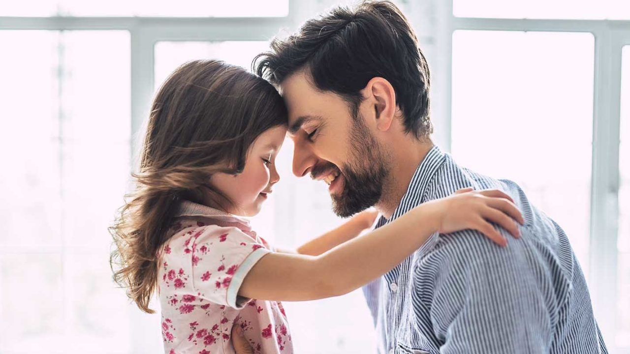 Father with his daughter after a Howard County divorce